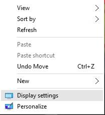 Display-settings