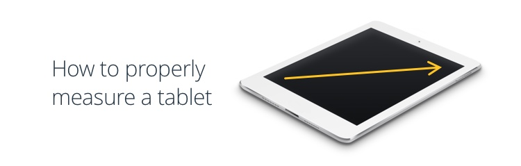 how to properly measure a tablet screen