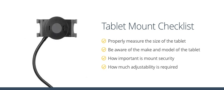 checklist for choosing a tablet mount