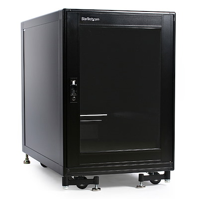 15U Rack Enclosure Server Cabinet - 29 in. Deep - Built-in Fans