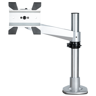 Desk Mount Monitor Arm - VESA or Apple iMac/Thunderbolt or Ultrawide Display up to 14kg - Articulating Height Adjustable Single Desktop Monitor Pole Mount - Clamp/Grommet