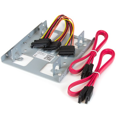 """Dual 2.5"""" to 3.5"""" HDD Bracket for SATA Hard Drives - 2 Drive 2.5"""" to 3.5"""" Bracket for Mounting Bay"""