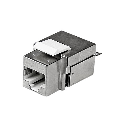 Shielded Cat 6a Keystone Jack - RJ45 Ethernet Cat6a Wall Jack White - 110 Type
