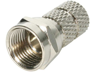 RG6 F Type Twist-on Male Connector - 5 Pack