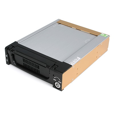 Black Aluminum 5.25in Rugged SATA Hard Drive Mobile Rack Drawer