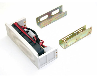3.5in Hard Drive Bracket Kit for 5.25in Front Bay with Triple Fans