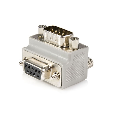 Right Angle DB9 to DB9 Serial Cable Adapter Type 1 - M/F