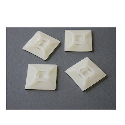 Self-adhesive Nylon Cable Tie Mounts - Pkg of 100