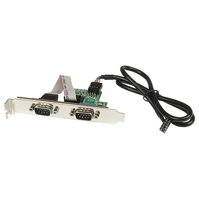 24in Internal USB Motherboard Header to 2 Port Serial RS232 Adapter