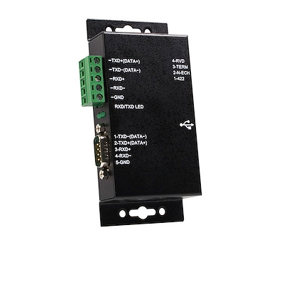 Metal Industrial USB to RS422/RS485 Serial Adapter w/ Isolation