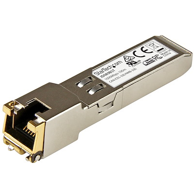 HPE JD089B Compatible SFP Module - 1000BASE-T - SFP to RJ45 Cat6/Cat5e - 1GE Gigabit Ethernet SFP - RJ-45 100m - HPE 5820AF, 12500, 5500