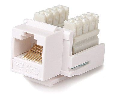 Selected Cat5e RJ45 Keystone Jack White - 110 Type