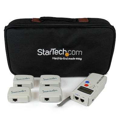 Selected Professional RJ45 Network Cable Tester with 4 Remote Loopback Plugs