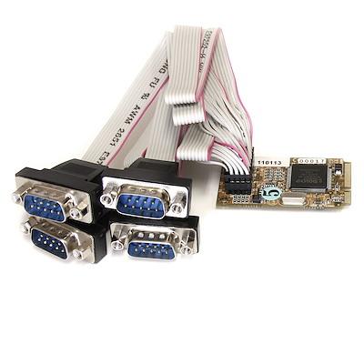 Scheda seriale Mini PCI Express RS-232 a 4 porte con 16650 UART