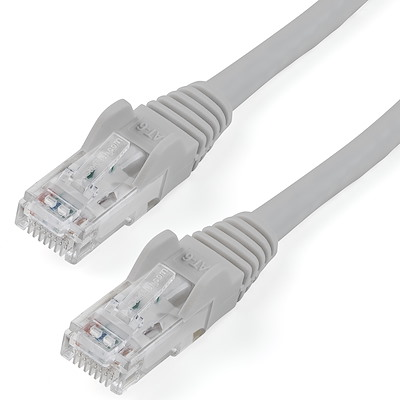 9ft CAT6 Ethernet Cable - Gray CAT 6 Gigabit Ethernet Wire -650MHz 100W PoE RJ45 UTP Network/Patch Cord Snagless w/Strain Relief Fluke Tested/Wiring is UL Certified/TIA