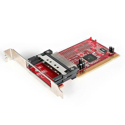 2 Port PCI to CardBus PCMCIA Adapter Card - Dual Profile