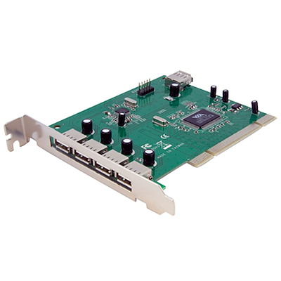 7 Port PCI USB Card Adapter