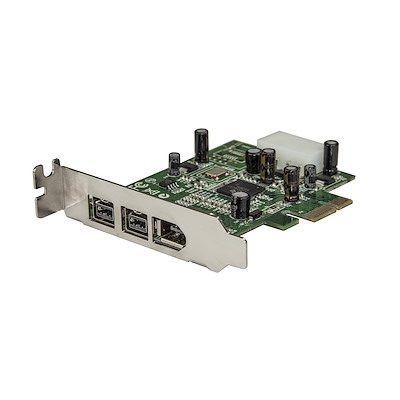 3 Port 2b 1a Low Profile 1394 PCI Express FireWire Card Adapter
