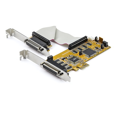 8-Port PCI Express RS232 Serial Adapter Card - PCIe RS232 Serial Card - 16C1050 UART - Low Profile Serial DB9 Controller/Expansion Card - 15kV ESD Protection - Windows/Linux