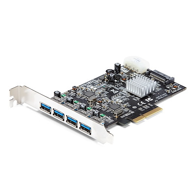 4 Port USB 3.1 PCI-e Card - 10Gbps - 4x USB w/ Two Dedicated Channels - PCI Express Expansion Card / Adapter