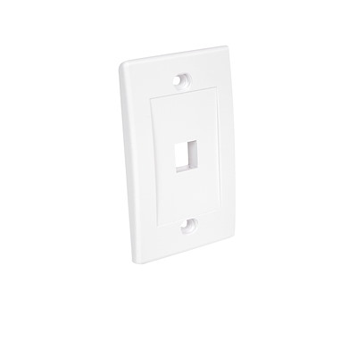 Selected Single Outlet RJ45 Universal Wall Plate - White
