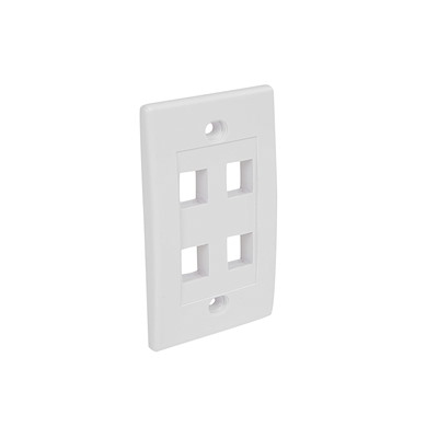 Selected 5 Outlet RJ45 Universal Wall Plate White