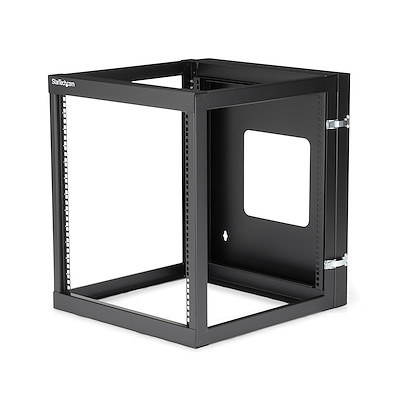 12U Hinged Open Frame Wall-Mount Server Rack - 22 in. Deep