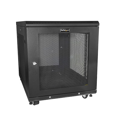 "12U Server Rack Cabinet - 4-Post Adjustable Depth (2"" to 30"") Network Equipment Rack Enclosure w/Casters/Cable Management/Shelf /Locking Dell PowerEdge HP ProLiant ThinkServer"