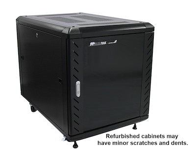 Refurbished 12U 36in Knock-Down Server Rack Cabinet with Casters