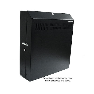 Refurbished 4U 19in Secure Horizontal Wall Server Rack with 2 Fans