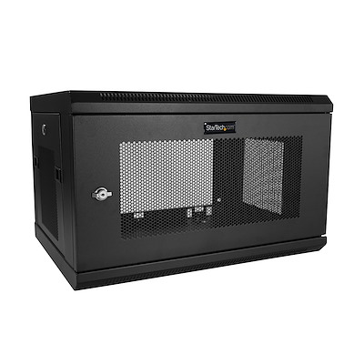 "2 Post 6U 19"" Wall Mount Network Cabinet - 15"" Deep Locking IT Switch Depth Enclosure - Vented Computer/Electronics Equipment Data Rack w/Shelf & Hook & Loop Tape /Assembled"