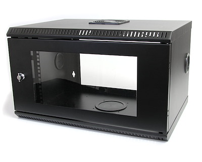 6U 19in Wallmount Server Rack Cabinet with Acrylic Door