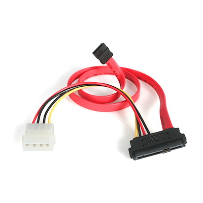 Selected 18in SAS 29 Pin to SATA Cable with LP4 Power
