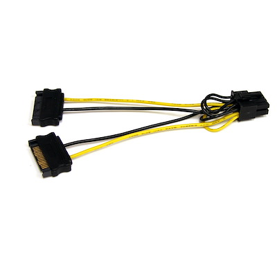 6in SATA Power to 8 Pin PCI Express Video Card Power Cable Adapter
