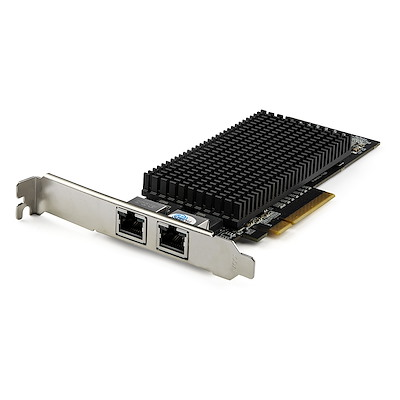 Dual Port 10G PCIe Network Adapter Card - Tehuti TN4010 10GBASE-T & NBASE-T PCI Express Network Interface Adapter 10/5/2.5/1GbE Multi Gigabit Ethernet 5 Speed NIC LAN Card