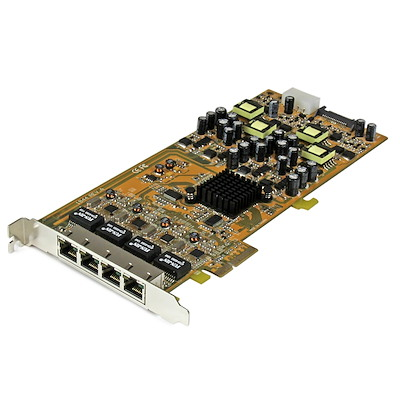 Gigabit Power over Ethernet PCIe-nätverkskort med 4 portar - PSE/PoE PCI Express-nätverkskort