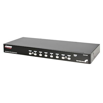 8 Port 1U Rackmount USB PS2 KVM Switch with OSD