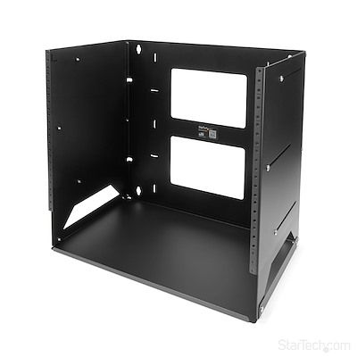 Wall-Mount Server Rack with Built-in Shelf - Solid Steel - 8U