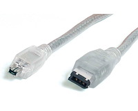 6 ft Transparent IEEE-1394 Firewire Cable 4-6 M/M
