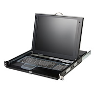 """1U 17"""" Rackmount LCD Console w/ Rear Mount KVM Switch Module"""