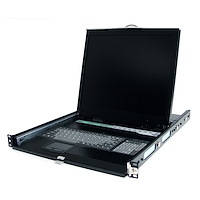 "1U 19"" Rackmount LCD Console w/ Rear Mount KVM Switch Module"