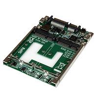 """Dubbel mSATA SSD till 2,5"""" SATA RAID-adapter-konverterare"""