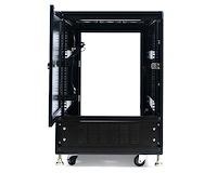 15U 19in Black Server Rack Cabinet with Fans