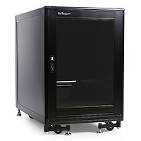 15U Rack Enclosure Server Cabinet - 29 in. Deep - Built-in Fans