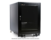 Refurbished 15U 19in Black Server Rack Cabinet with Fans