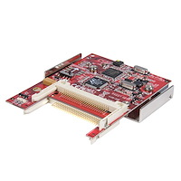 2.5in SATA or USB to Dual Compact Flash SSD Adapter with RAID