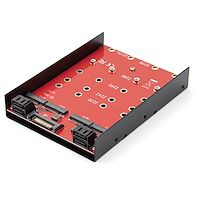 4 x M.2 SATA Mounting Adapter for 3.5in Drive Bay