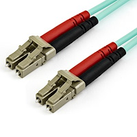 7 m OM4 LC to LC Multimode Duplex Fiber Optic Patch Cable
