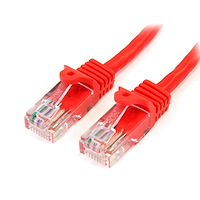Snagless Crossover Cat5e Patch Cable (UTP) - Red