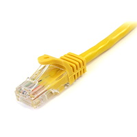 Snagless Crossover Cat5e Patch Cable (UTP) - Yellow